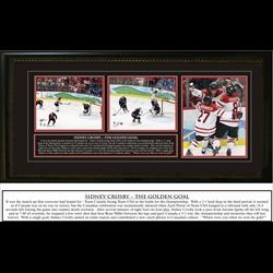 Sidney Crosby Signed Triple 8x10 Team Canada 2010 The Golden Goal