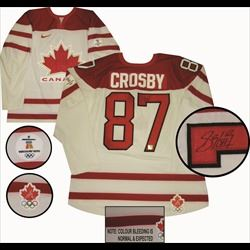 Sidney Crosby Signed Jersey Game Model Team Canada White 2010 Olympics