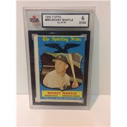 1959 MICKEY MANTLE #564 TOPPS ALL-STAR BASEBALL TRADING CARD (6 ENM)