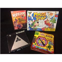 BOARD GAME LOT (MOUSE TRAP, YAHTZEE, TRI-OMINOES)