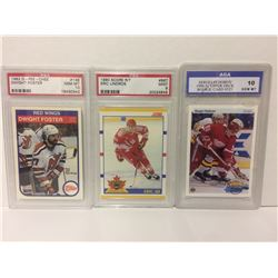 NHL HOCKEY TRADING CARDS LOT (FOSTER, LINDROS. FEDOROV)