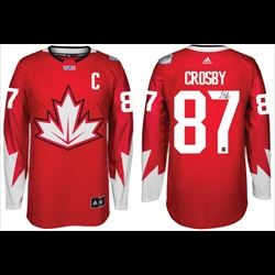 Sidney Crosby Signed Jersey Replica Canada Red World Cup 2016