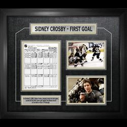 Sidney Crosby Framed Scoresheet Collage First Goal