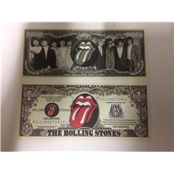 The ROLLING STONES Band 50th Anniversary ~*~ $1,000,000 One Million Dollar Bill (NOVELTY)