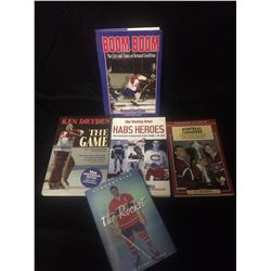 MONTREAL CANADIANS HOCKEY BOOKS LOT