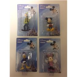 DISNEY FIGURINE LOT (MICKEY, MINNIE, DONALD DUCK, GOFFY)