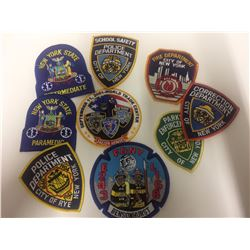 NYC POLICE & FIRE DEPT PATCHES LOT