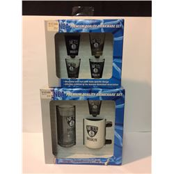 NBA PREMIUM QUALITY DRINKWARE SET LOT