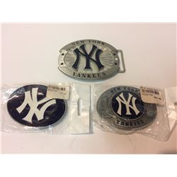 NEW YORK YANKEES BELT BUCKLES LOT