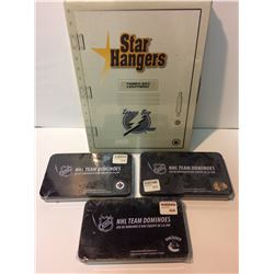 TAMPA BAY LIGHTNING STAR HANGER W/ NHL TEAM DOMINOES LOT