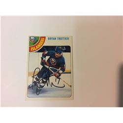 BRYAN TROTTIER SIGNED NEW YORK ISLANDERS HOCKEY CARD