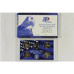 2002 US 50 STATE QUARTERS PROOF SET WITH BOX