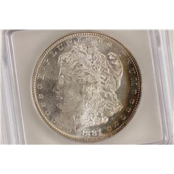 1881-S MORGAN SILVER DOLLAR ICG MS64 SOME TONING