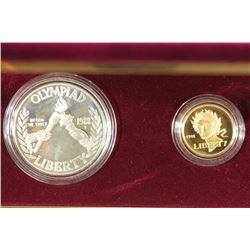 GOLD & SILVER 1988 US OLYMPIC PROOF 2 COIN SET