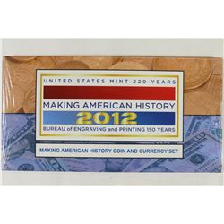 US MINT 2012 MAKING AMERICAN HISTORY COIN &