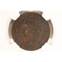 1834 US LARGE CENT NGC XF DETAILS