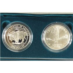 1999-P 2 SILVER DOLLAR YELLOWSTONE N.P. COMMEM.