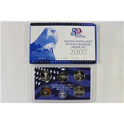 2007 US 50 STATE QUARTERS PROOF SET WITH BOX