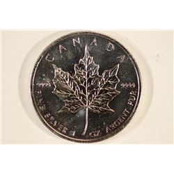 2010 CANADA SILVER $5 MAPLE LEAF 1 OZ. SILVER
