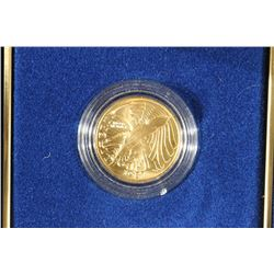 GOLD 1987-W US CONSTITUTION $5 UNC 1/4 OZ.