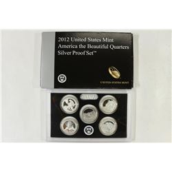 2012 SILVER US 50 STATE QUARTERS PROOF SET WITH