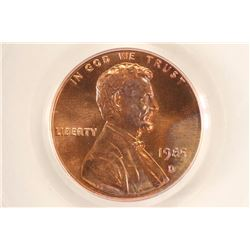 1985-D LINCOLN CENT PCGS MS67RD
