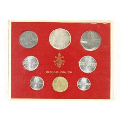 1969 VATICAN 8 COIN SET WITH SILVER
