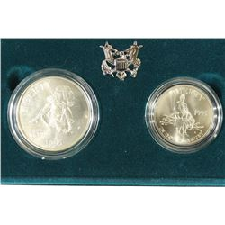 1995-P& S CIVIL WAR BATTLE FIELD 2 COIN SET UNC