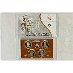 2015 US PRESIDENTIAL DOLLAR PROOF SET WITH BOX