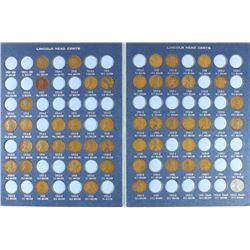 2-LINCOLN CENT ALBUMS 1909-1943 CONTAINS: 47 COINS