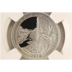 2010-S SILVER GRAND CANYON N.P. QUARTER NGC
