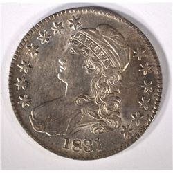 1831 CAPPED BUST HALF DOLLAR AU/BU  TONS OF LUSTRE