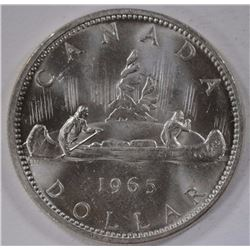 1965 CANADA DOLLAR POINTED 5 - UNC