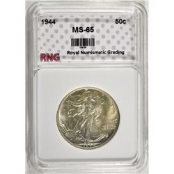 1944 WALKING LIBERTY HALF DOLLAR  GEM BU GRADED by RNG