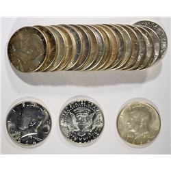 90% SILVER HALF DOLLAR ROLL - 20 COINS - MIXED KENNEDY
