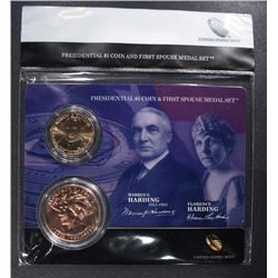 2014 Warren and Florence Harding First Spouse Presidential Coin & Medal Set