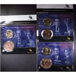 3 - 2015 Presidential $1 Coin and First Spouse Medal Set; REAGAN, NIXON, FORD