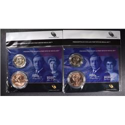 2 - 2013 Presidential $1 Coin and Spouse Medal Set - Edith Wilson & Ellen Wilson