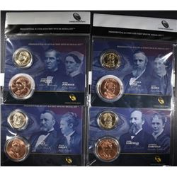 4 - 2011 Presidential $1 Coin and First Spouse Medal Set; GARFIELD, HAYES, GRANT