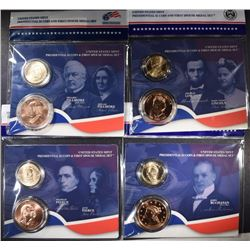 4 - 2010 Presidential $1 Coin and First Spouse Medal Set; FILLMORE, PIERCE,