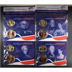 4 - 2008 Presidential $1 Coin and First Spouse Medal Set; ADAMS, MONROE, JACKSON