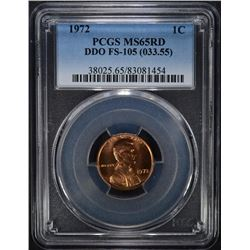 1972 DDO FS-105 LINCOLN CENT PCGS MS65RD (FS-033.55)