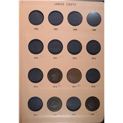 U.S. LARGE CENTS in DANSCO - 28 diff COINS - SOME NICE COINS HERE!