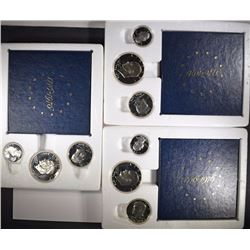 ( 3 ) 1976 3-PIECE 40% SILVER BICENTENNIAL  PROOF SETS IN ORIGINAL PACKAGING