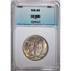 1944 WALKING LIBERTY HALF DOLLAR, EMGC GEM BU