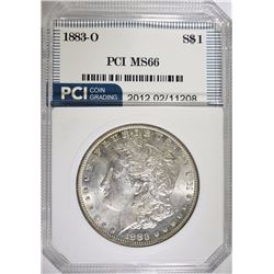 1883-O MORGAN SILVER DOLLAR PCI SUPERB GEM BU