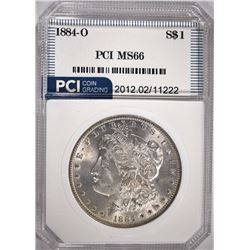 1884-O MORGAN SILVER DOLLAR PCI SUPERB GEM BU