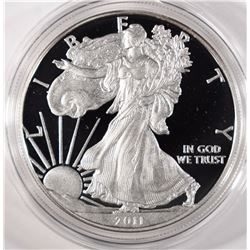 2011 PROOF AMERICAN SILVER  IN ORIG BOX/COA