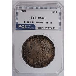 1889 MORGAN DOLLAR PCI GEM BU+
