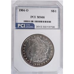 1904-O MORGAN DOLLAR PCI GEM BU+